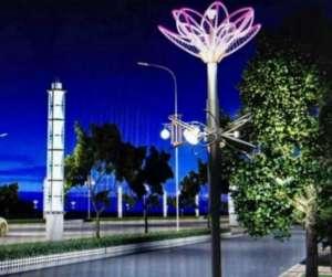 塘沽河滨公园景观灯损坏严重卫星电话
